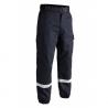 Pantalon F2 bandes rétro-réfléchissantes bleu