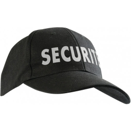 Casquette brodée SECURITE noir